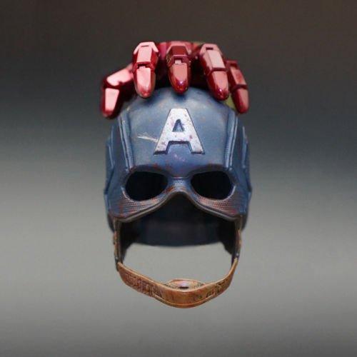 "NEW 1/6 Scale Captain America Helmet For 12"" Action Figure Classic Cap"