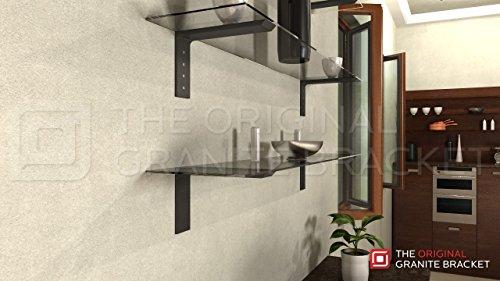 Shelf L Bracket 10Hx6V Black by The Original Granite Bracket (Image #3)