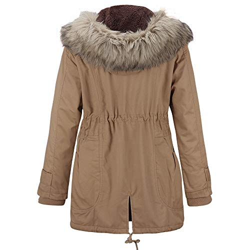 Manteau Tops POTTOA Coat de Pull Collier Femme Slim Pull dcontract Chemisier Fourrure Winter Blouse Beige Long Manteaux Top Tops de Parka Couture Elegant Femme Veste Sweatshirt rwwxqaEtf