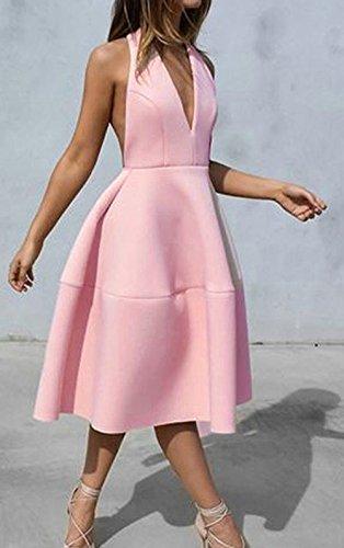 Neckholder kleid pastell