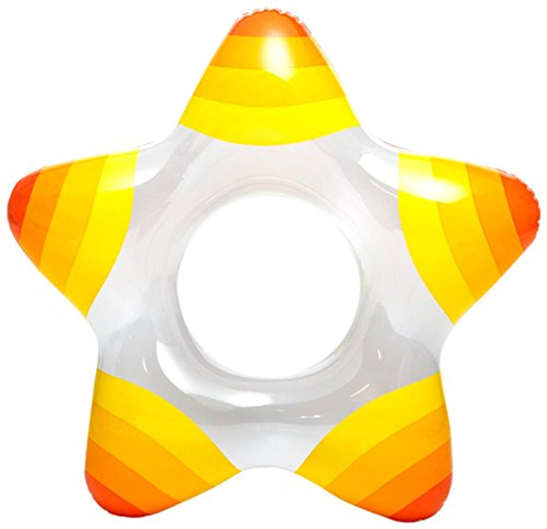 Intex Inflatable Star Shape Swim Rings, 1 Pack (Colors May Vary), for Ages 3-6 (Ring Neck Baby Swimming)