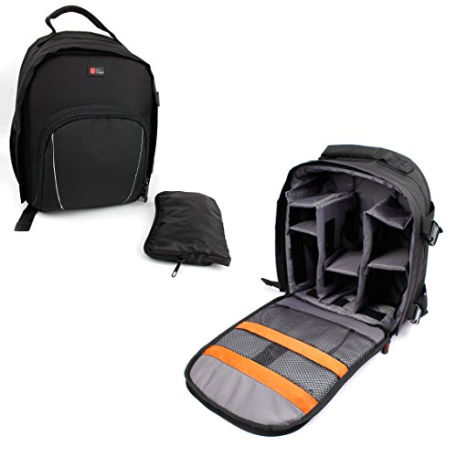 Black Water-Resistant Backpack with Customizable Interior & Raincover for the Dlodlo Glass H1, Glass V1 & D1 Virtual Reality Headsets - by DURAGADGET