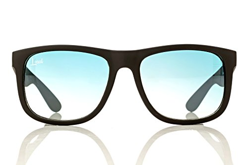 The Starter - Blue Gradient Sunglasses - Men and Women - Fashionable Designer Look with Colored Sunglass Lenses - Rubber Frames - Unisex Travel Eyeglasses with UV400 ()