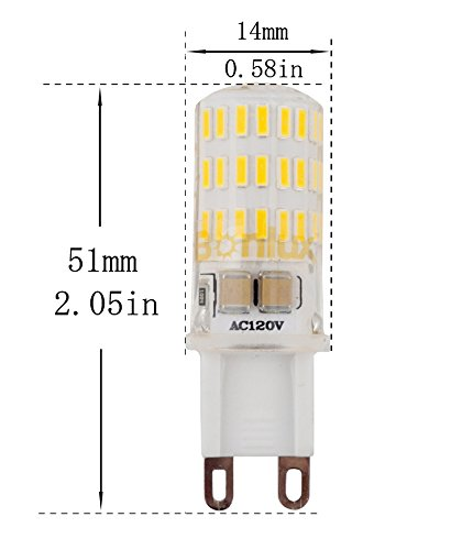 5w G9 Dimmable Led Light Bulb 40w Equivalent G9 Bi Pin