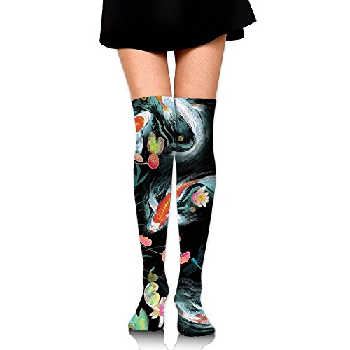 Koi Japanese Water Garden High Socks Knee Socks Athletic Socks Fit Boosts Casual Solid & Fashion Socks For Girls & - Shopping Watergardens