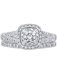 14K Gold 3/4 Carat Natural Diamond Ring (K-L Color, I1-I2 Clarity) Exquisite Diamond Bridal Ring