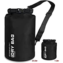 EcoGear FX Heavy Duty Waterproof Dry Bag Voyager Series – Durable Roll Top Compression Bag –Kayaking, Rafting, Boating, Hiking, Fishing and Camping