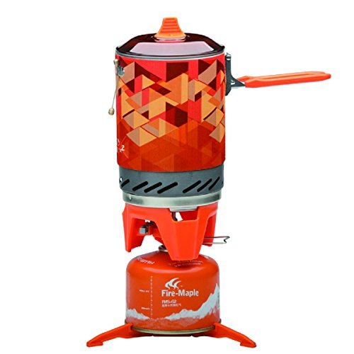 Fire-Maple Star FMS-X2 Outdoor Cooking System Portable Camp Stove with Piezo Ignition POT Support & Stand - Ultralight Compact Windproof High Heating Efficiency - Propane & Butane Canisters - Camping (Stand Propane Canister)