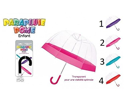 Parapluie Dome Enfant - Mod 1 Violet - Accessoire Pluie Enfant - 064 Générique