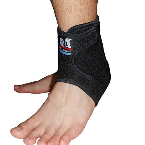 IRUFA, AN-OS-12, 3D Breathable Elastic Fabric Adjustable Ankle Wrap for Sport, Running, Basketball and Pain Relief of Sprains, Strains, Arthritis and Torn Tendons in Foot and Ankle