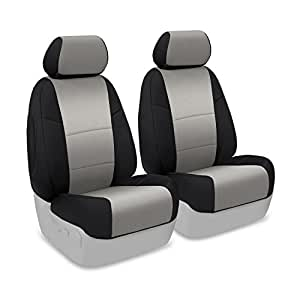 Coverking Custom Fit Front 50/50 Bucket Seat Cover for Select Chevrolet Monte Carlo Models - Neosupreme (Gray with Black Sides)