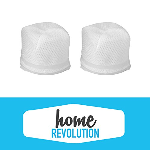 Dirt Devil F-17 Home Revolution Brand High Efficiency Dust Cup Filter Replacement 2-Pack, Made to Fit Dirt Devil KONE and KURV Hand Held Vacuum Cleaners, Compare to Dirt Devil F17 Part # 3DN0980000 & 3-DN0980-000