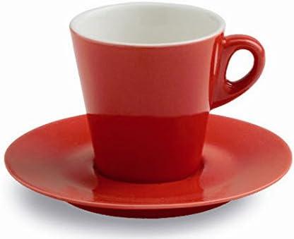 Confezione da 6 pezzi TOGNANA Mara Tazza Caff/è con Piattino Rossa Cc 70