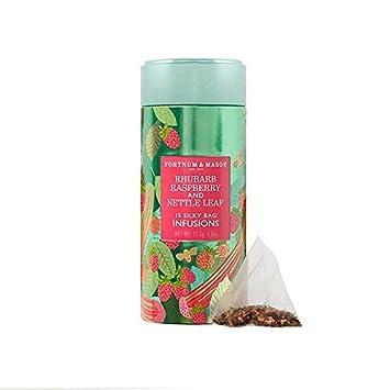 Fortnum & Mason British Tea, Rhubarb, Raspberry & Nettle Leaf Infusion Tin, 15 Silky Tea bags...