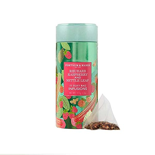 FORTNUM and MASON Rhubarb, Raspberry & Nettle Leaf Infusion Tin - 2 x 15 silky tea bags pack (30 count) NEW!