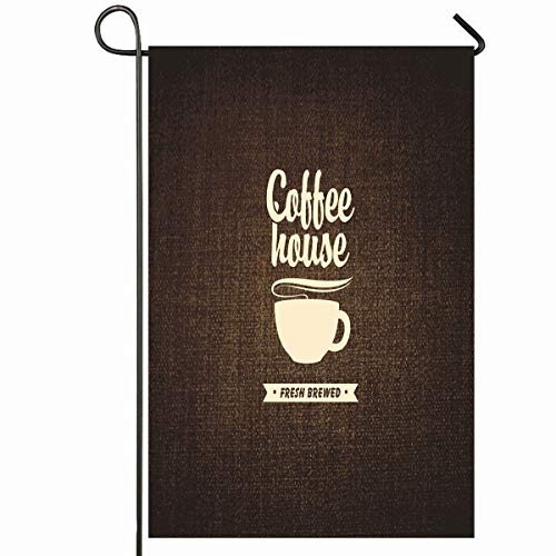 Colonial Saucer - Ahawoso Outdoor Garden Flag 28x40 Inches Saucer Brown House Cup Coffee On Food Hot Drink Cocoa Cafe Beverage Market Design Sweet Seasonal Home Decorative House Yard Sign