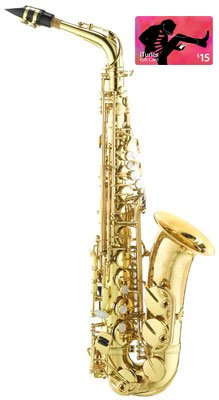 Band Director Recommended Student Alto Saxophone with FREE $15 iTunes Gift Card by Band Directors Choice