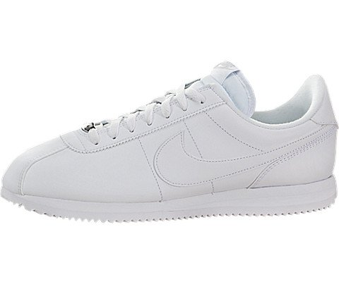 Nike Mens Cortez Basic Leather White/White/Wlf Gry/Mtllc Slvr Casual Shoe 10.5 (Casual Mens Shoes Nike)