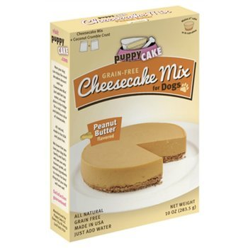 (Grain-Free Cheesecake Mix for Dogs with Coconut Crumble Crust - Just Add Water for Cake for Dogs in Peanut Butter Flavor, 11 ounces)