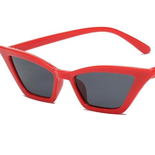Sol Para negro de de de Conducción Protección UV400 Gafas Libre D al Deportes Plástico DOLITY Lente Eepejada Ojos Aire Gato Viajes Marco rojo Vintage champán ZxqCwx4tg