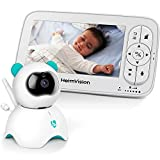 HeimVision HM136 Video Baby Monitor, 5' LCD Display, 720P HD, Two-Way Audio, Temperature & Sound Alarm, Security Camera with 110° Wide Angle, Night Vision, Up to 1000ft of Range