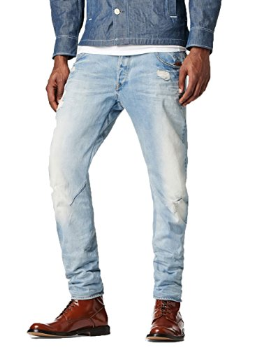 G-Star Herren Jeans Arc 3D Slim Superstretch Slim Fit It Aged Destroyed, Größe:W 38 L 38;Farbe:lt aged destroy (1243