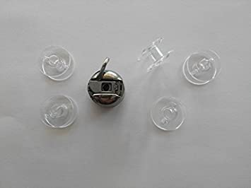 CANILLERO + 5 CANILLAS de plastico compatibles con Alfa, Lervia, Elna, Sigma, Singer, Necchi, Carrefour: Amazon.es: Hogar