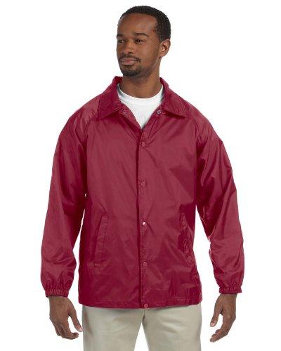 - Harriton mens Nylon Staff Jacket(M775)-MAROON-2XL