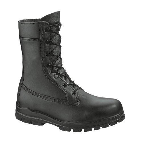Women's Bates 9 inch U.S. Navy Suede DuraShocks Steel Toe Boots Black, BLACK, 11W