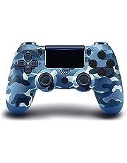 Controlador sem fio PS4, com Joystick de Jogo Campo de Vibração Dupla, Compatível com Console Playstation 4/Slim/Pro, com cabo de carregamento