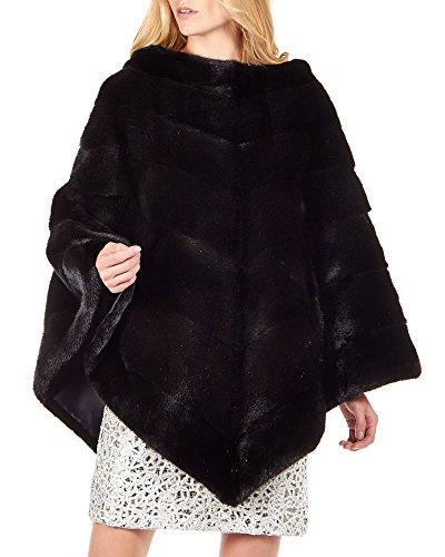 Women's Black Mink Fur Poncho by Frr (Image #2)