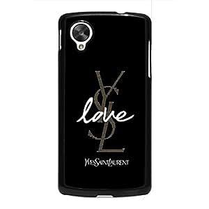 Google Nexus 5 Case Cover For Yves Saint Laurent Phone Case Cover For Google Nexus 5 Luxury Brand YSL Logo Printed Back