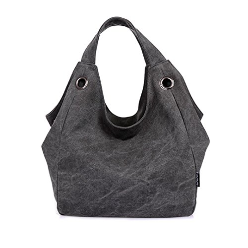 Good Bag 2015 New Fashion Heavy Duty Canvas Tote Bag Women's Shoulder Bags Large Canvas Tote Color Gray