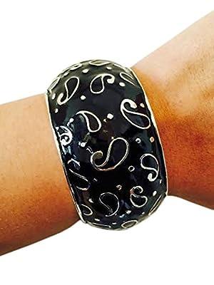 FUNKtional Wearables Fitness Activity Tracker Bracelet for VivoFit - The Bernadette Black and Silver VivoFit Bracelet