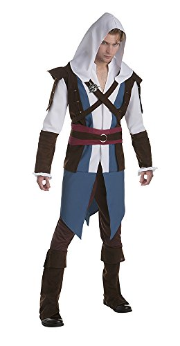 Palamon Men's Assassin's Creed Edward Classic Costume, Blue, Large -