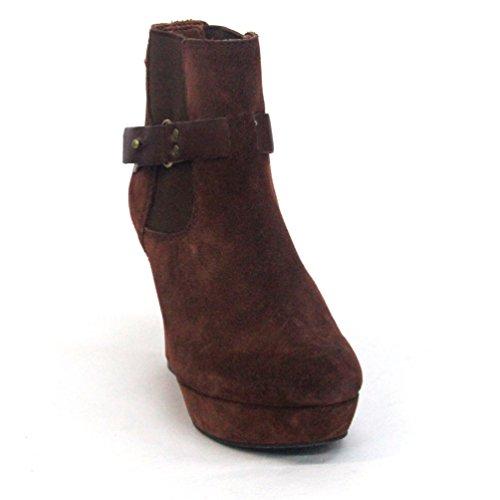 Marca botas de Lucky de tobilleras con peso cojín con forma de cuña, UK 3, 5, con diseño de Liverpool CLUB £98 negro - marrón