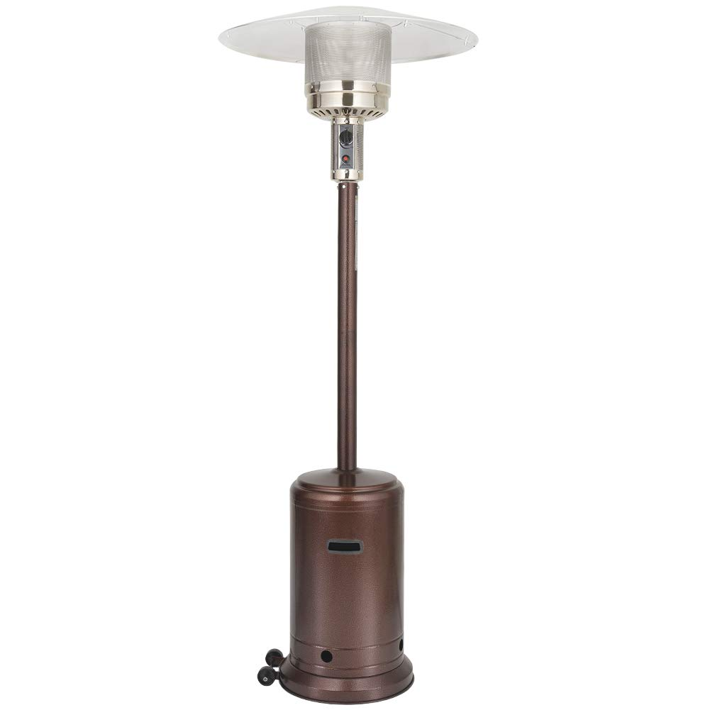 UPHA 46000 BTU Commercial Bronze Outdoor Patio Heater with Sandbox and Wheels, 87-inch by UPHA
