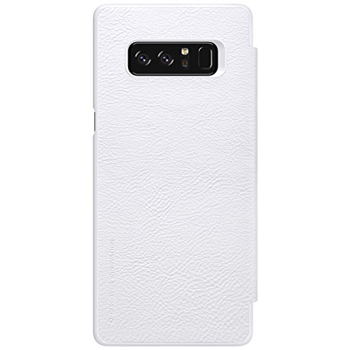 Samsung Galaxy Note 8 Case ,Samsung Galaxy Note 8 Synthetic Leather Case ,Opdenk- Nillkin Qin Ultra Thin Card Slot Smart Case Flip Leather Case Cover For Samsung Galaxy Note 8 (White) by OPdenk (Image #2)
