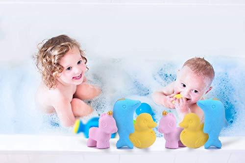 6x4.2ounce Kids Cute Unicorns Ducks Dolphins Shaped Bubble Bath Bombs Unique Animal Shower Bath Fizzies for Kids