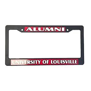 University of Louisville Alumni Black Plastic License Plate Frame For Front Back of Car