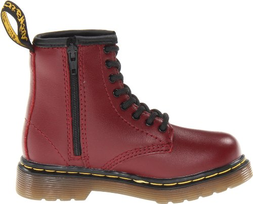 B Martens Unisex Lace Up Red Boots Child Dr Cherry Brooklee 4HqxEB4w