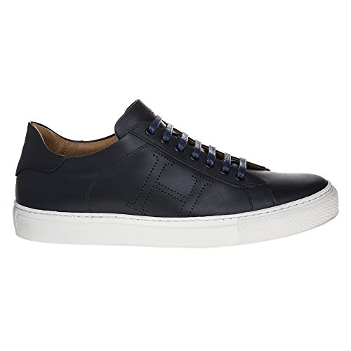Hackett London Basic Blucher, Scarpe Stringate Derby Uomo Blue