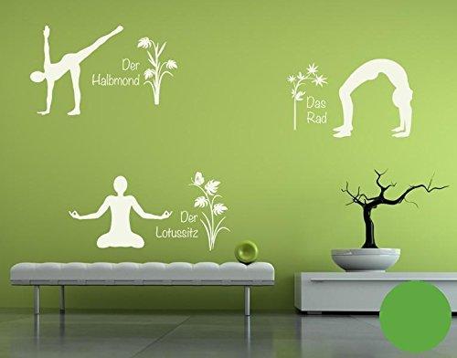 Klebefieber Wandtattoo Yoga Figuren Set 4 B x H  110cm x 170cm Farbe  Creme B072F363RD Wandtattoos & Wandbilder