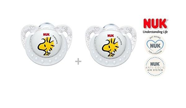 NUK Snoopy Peanuts - 2 x Chupete anatómica Sili Kone, nº ...