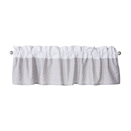 Trend Lab Window Valance, Gray and White Circles (Circle Valance Dot)