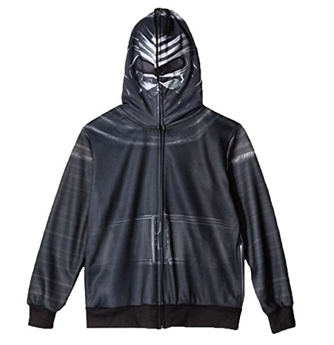 Star Wars The Force Awakens Big Boys Kylo Ren Costume Hoodie (M (8)),black