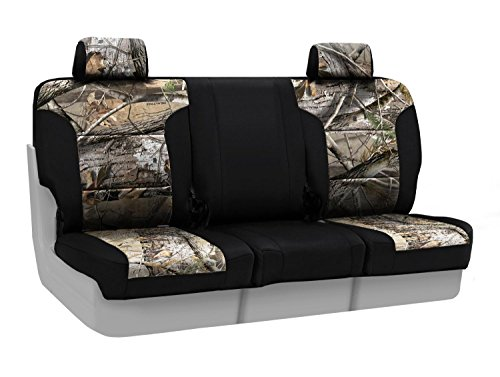 Coverking Front 40/20/40 Custom Fit Seat Cover for Select Chevrolet Silverado Models - Neosupreme (Realtree AP Camo with Black Sides)