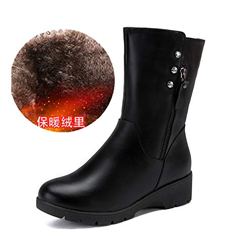 Shukun Damen Schneestiefel Mutter Mutter Mutter In Den Stiefeln Kinder Winter Dicke Warme Rutschfeste Stiefel Schneeschuhe Baumwolle Schuhe Flache Stiefel Pu Stiefel  c6909b