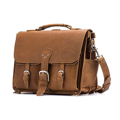 Saddleback Leather Front Pocket Briefcase - Best Briefcase for Business & Travel (Saddleback Leather Bag)