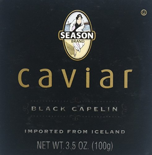 Kosher Caviar - Season Black Capelin Caviar, 3.5 Ounce (Case of 12)